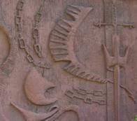 Bas Relief in front of St. Paul's Cathedral